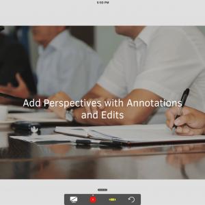 iOS11專屬螢幕錄製功能,可在簡報模式下開啟同步使用。