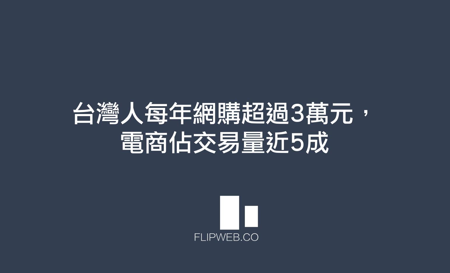【FlipWeb數位資產仲介】台灣人每年網購超過3萬元,C2C電商佔交易量近5成