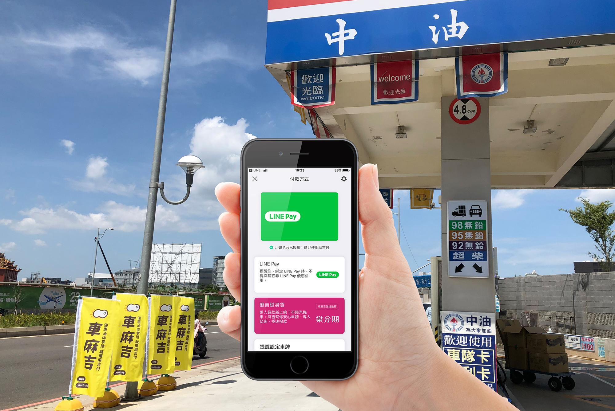 加油停車用LINE Pay   車麻吉上最高25%回饋到年底!