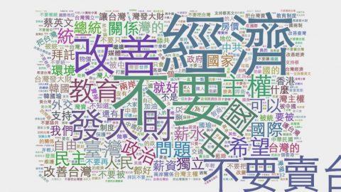 大學生致2020總統一句話:請求你/妳不要把台灣賣掉,我只想安穩過日子
