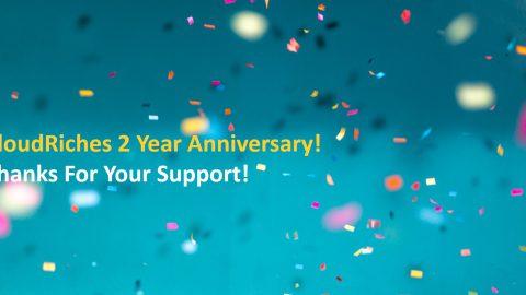 CloudRiches 雲馥數位2周年了!感謝每一位支持我們的您!