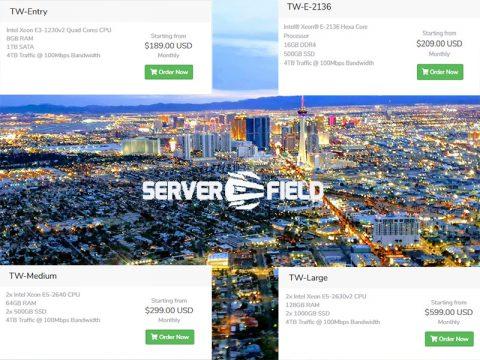 Serverfield:台灣/美國/歐洲VPN,100Mbps頻寬,高速直連