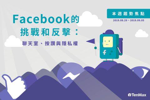 TenMax趨勢快報|Facebook的挑戰和反擊:聊天室、按讚與隱私權