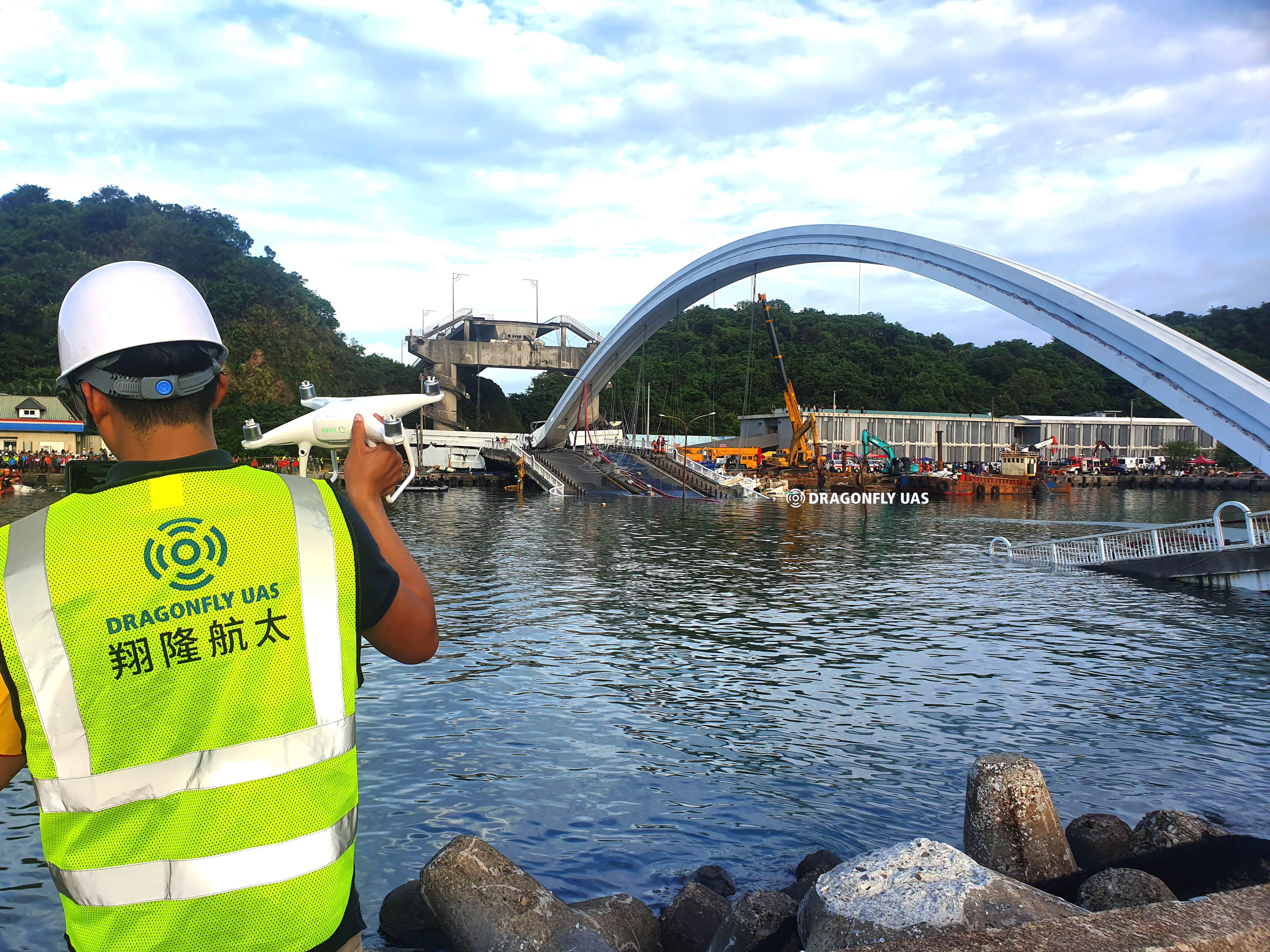 南方澳大橋坍塌實景建模紀錄現場 淺談無人機與災害管理