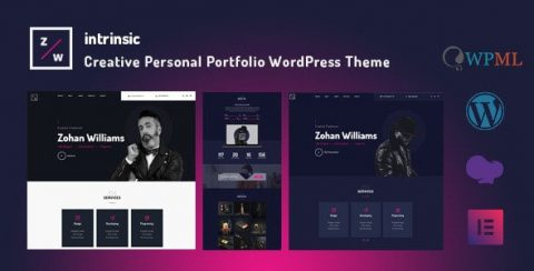 【WordPress 付費主題免費下載】Intrinsic — Creative Personal Portfolio WordPress Themes — TechMoon 科技月球