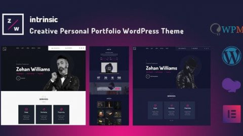 【WordPress 付費主題免費下載】Intrinsic—Creative Personal Portfolio WordPress Themes—TechMoon 科技月球