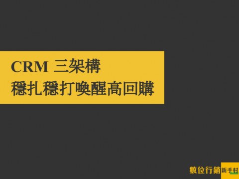 CRM 三架構,穩扎穩打喚醒高回購
