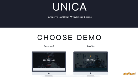 【WordPress 付費主題免費下載】Unica – Personal Resume and Portfolio Theme