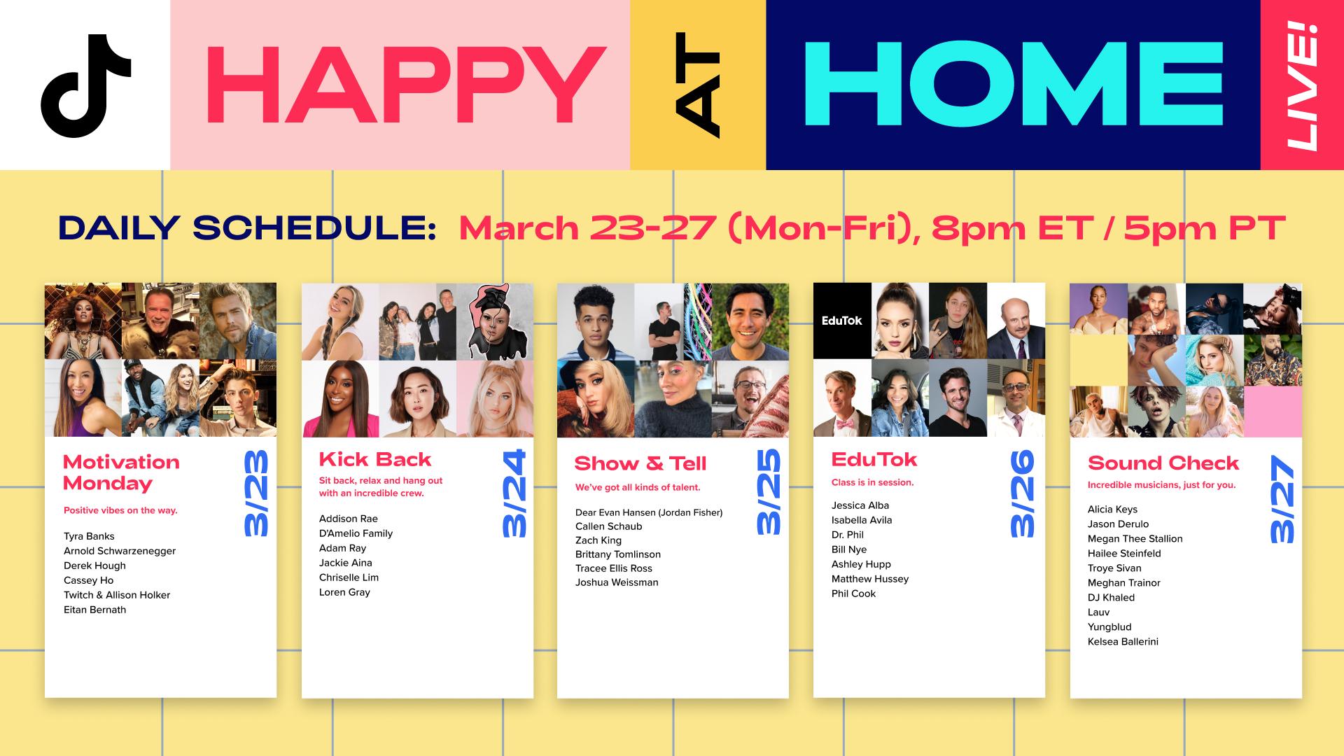 TikTok 發起 #HappyAtHome,居家防疫不孤單