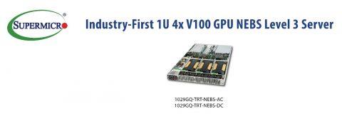 Supermicro 推出業界首款 NEBS 第3級認證的 1U 伺服器 採 2,560個 NVIDIA GPU Core 實現創新設計
