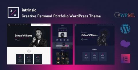 【WordPress 付費主題免費下載】Intrinsic – Creative Personal Portfolio WordPress Themes