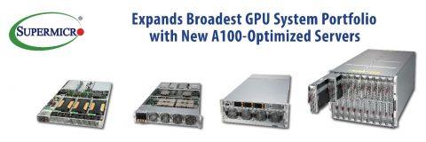 Supermicro推出搭載 NVIDIA HGX A100 8-GPU 最高密度 4U 伺服器和支援 20 張 A100 PCI-E GPU 的 8U SuperBlade
