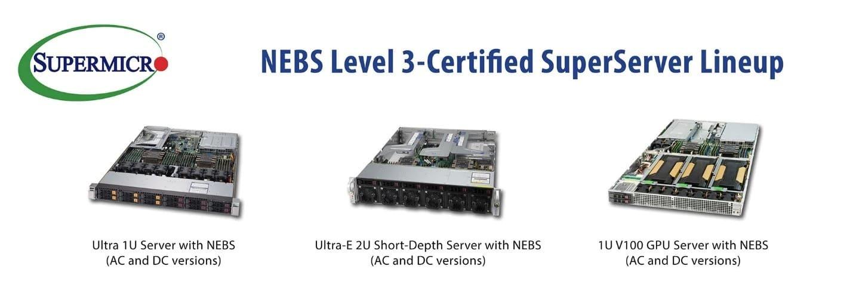 Supermicro 推出最新通過 NEBS 第 3 級認證伺服器 2U Ultra-E 短機身  為電信Edge端帶來強大運算效能