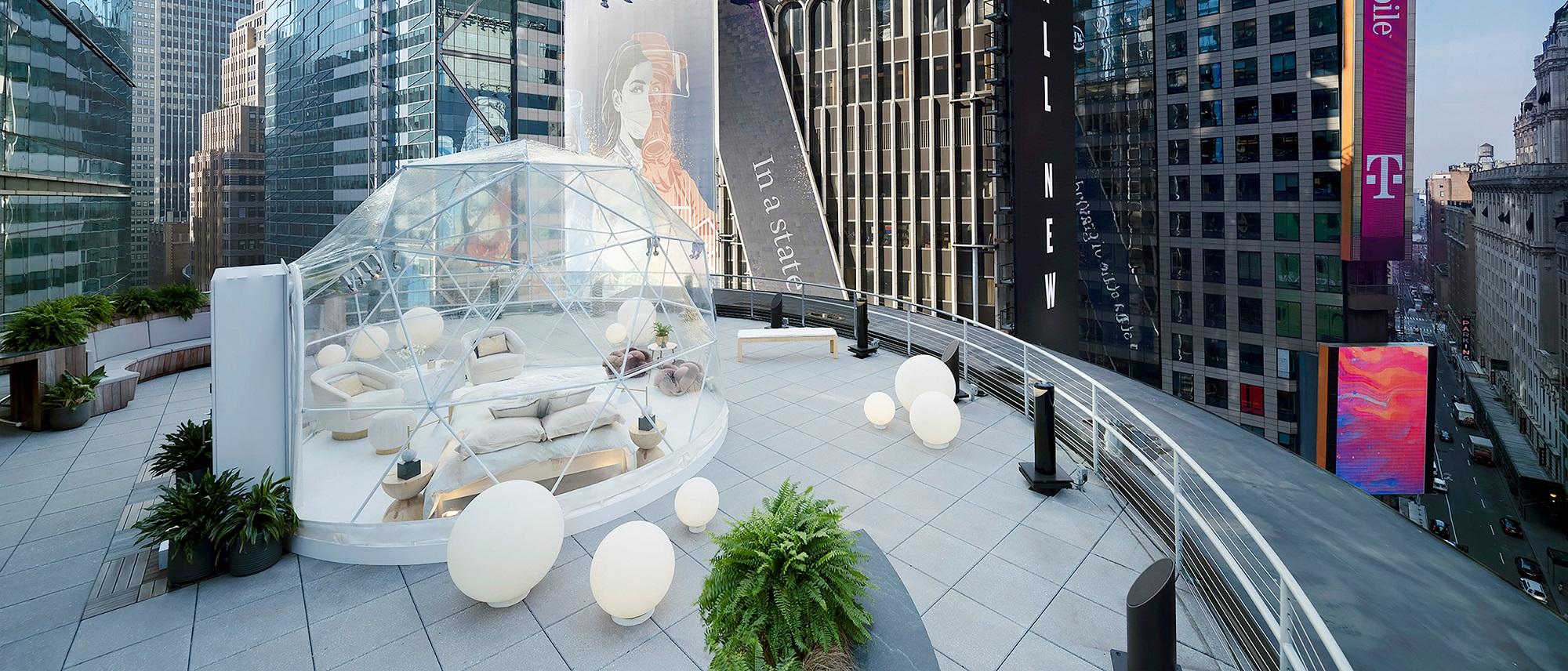 Airbnb 攜手那斯達克邀請紐約客夜宿時代廣場 與時代廣場著名水晶球共迎 2021