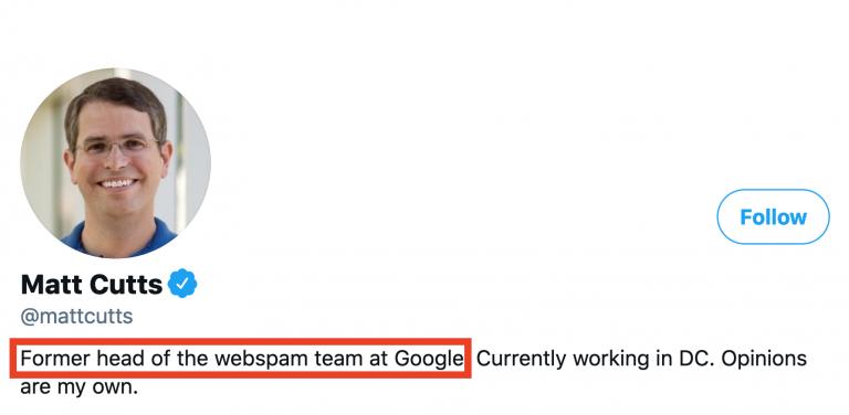 Google濫用防制團隊總監Matt Cutts