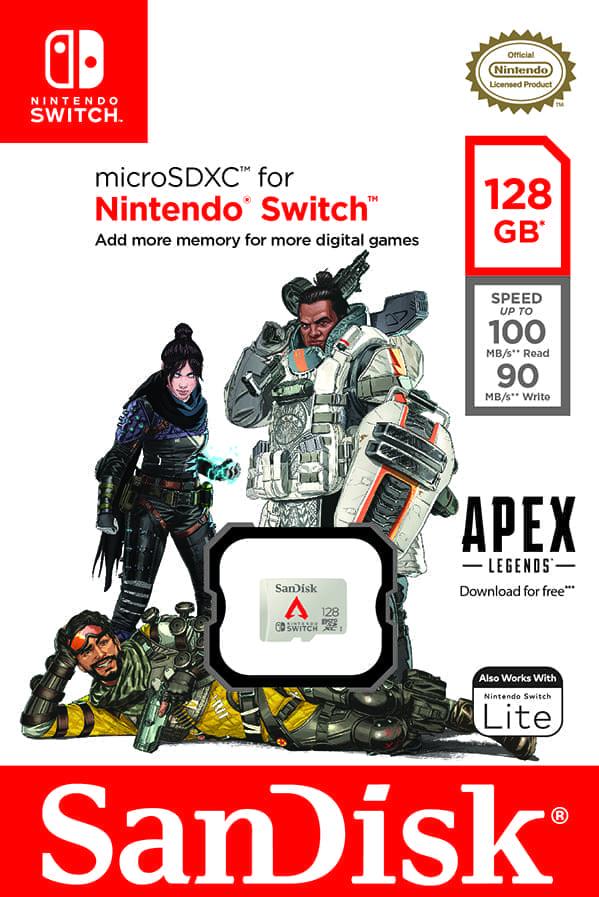 為榮耀、名譽和財富而戰! Western Digital推出《Apex英雄》專屬任天堂Switch新記憶卡