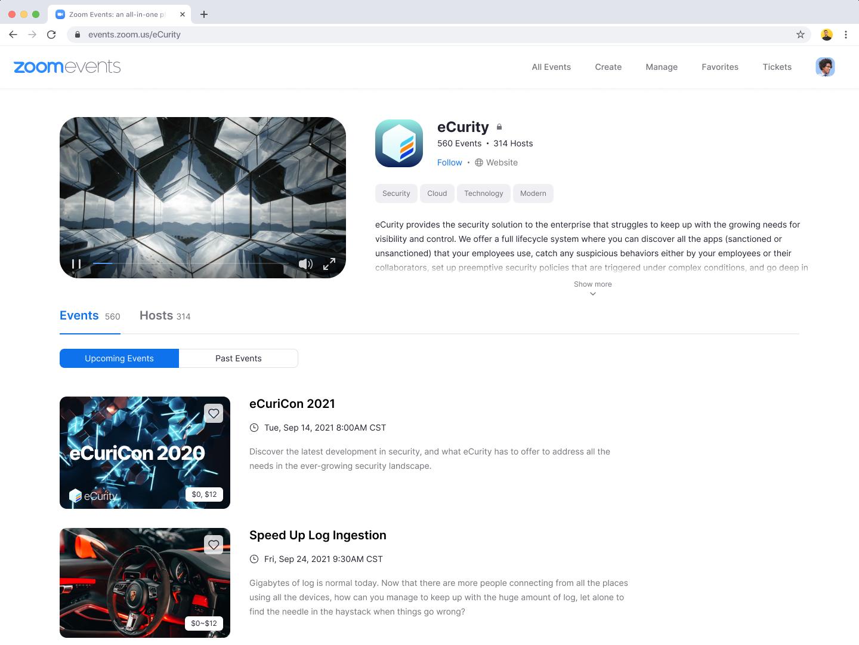 Zoom 將於今夏推出 Zoom Events 平台 實現虛擬活動的無限可能